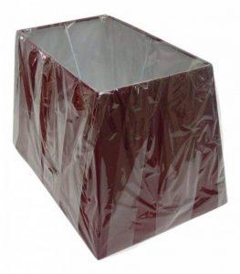 """Abat-jour rectangulaire et rouge pour lampe de table, 33cm x 38 cm x 43cm, Métal, Red, 13"""" Table Lamp Shade de la marque KL image 0 produit"""