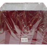 """Abat-jour rectangulaire et rouge pour lampe de table, 33cm x 38 cm x 43cm, Red, 17"""" Table Lamp Shade de la marque Lights Linen image 1 produit"""