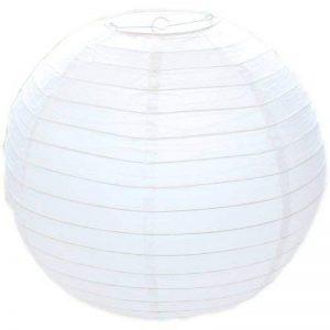Abat-jour rond en papier style bambou Blanc 30cm de la marque West5Products image 0 produit