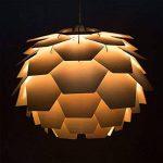 """Abats-Jour Moderne pour Suspension, Style Designer Scandinavie""""Artichaut"""", Panneaux du Bois nature clair en forme d'un boule. Adapte Pour Douille de 28mm ou 42mm de la marque MiniSun image 3 produit"""