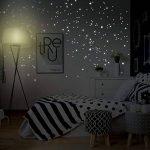 """Adhésifs muraux Wandkings """"250 pièces Points lumineux pour réaliser un ciel étoilé"""" Fluorescents & phosphorescents dans l'obscurité de la marque Wandkings.de image 2 produit"""