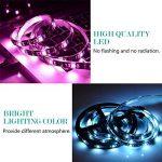 Adoric Ruban LED RGB 2M 5050 SMD 60 LEDs Light Strip Flexible Multicolore Décoration Chambre TV Tableau Miroir avec Télécommande de 17 Touches+5 piles bouton de la marque Sunnest image 4 produit