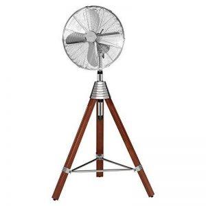 AEG VL 5688S rétro Ventilateur sur pied en bois trépied, oscillation, diamètre 40cm, 3vitesses de rotation, boîtier en métal, Hauteur réglable de haute qualité de la marque AEG image 0 produit