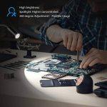 Aglaia lampe de bureau Eye Care LED Clamp Touch, Alimenté par USB, câble de 350cm et cou flexible à 360°, 2types de mode d'installation pour chambre, bureau, salon, Studio (Noir) de la marque Aglaia image 3 produit