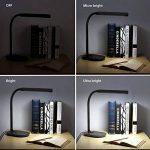Aglaia Lampe de Bureau, Lampe de Table LED,Port USB de Recharge, 7W, Touch Control, 3 Niveaux de Luminosité Réglable, Cou Flexible 360°, Nero de la marque Aglaia image 2 produit