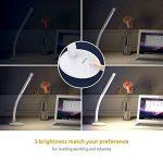 Aglaia Lampe de table USB Batterie rechargeable ebare 3 W, protection des yeux Lampe de table avec 3 LED Luminosité réglable par Touch Control, sans fil pour lire l'Étude de travailler (Blanc) de la marque Aglaia image 2 produit