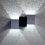 AGPtEK Appliques Murales Modernes 6W (19.5 * 12 * 6.6cm), Intérieur vers le Bas, pour Salon, Chambre, Couloir, Escalier, Salle à Manger etc (Blanc Pur, Corps Cube) de la marque AGPTEK image 4 produit
