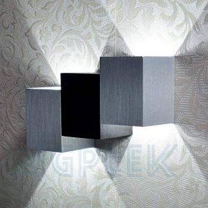 AGPtEK Appliques Murales Modernes 6W (19.5 * 12 * 6.6cm), Intérieur vers le Bas, pour Salon, Chambre, Couloir, Escalier, Salle à Manger etc (Blanc Pur, Corps Cube) de la marque AGPTEK image 0 produit