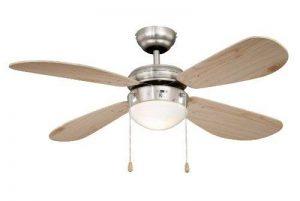 AireRyder Classic Ventilateur de plafond, nickel, pâles pin, avec éclairage, diamètre 105 cm de la marque Pepeo GmbH image 0 produit