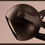 Aiwen Créatif Noir Les lampes Barres de café Fer forgé Lustres Créatif Rétro Éclairage Noir(Grand) de la marque Aiwen image 1 produit