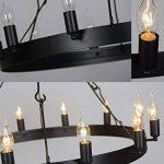 Aiwen Fer forgé Les lampes Pays Rétro Simple Lustre Noir(Petit) de la marque Aiwen image 1 produit
