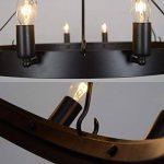 Aiwen Fer forgé Les lampes Pays Rétro Simple Lustre Noir(Petit) de la marque Aiwen image 3 produit
