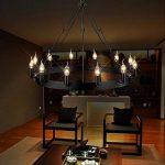 Aiwen Fer forgé Les lampes Pays Rétro Simple Lustre Noir(Petit) de la marque Aiwen image 4 produit