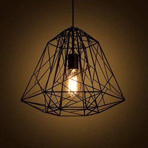 Aiwen Fer Forgé oiseaux Cages Lustres Noir ( Ampoules non incluses ) 1 Support de lampe de la marque Aiwen image 0 produit