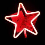 AIZESI Lampe Etoile lumineuse LED étoile rouge lumineuse chamber Lampe à Néon Nouveauté LED Lampe à Décor mural Lampe nuit Décoration Chambre Salon(Étoile rouge) de la marque AIZESI image 2 produit