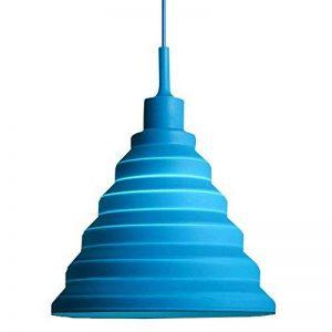 Alamp Lampe Suspension Luminaire Suspendue avec Abat-jour en Silicone (Bleu) de la marque Alamp image 0 produit
