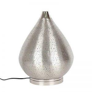 albena shop 71-6340 Fare lampe de table orientale H 37 cm / ø 28 cm métal argente de la marque albena shop image 0 produit