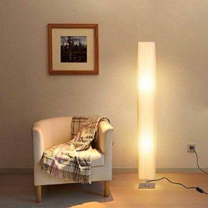 Albrillo Lampadaire Moderne, Lampadaire E27 avec abat-jour en tissu, base en acier inoxydable, lumière tamiseé, Blanc 120cm pour Salon et Chambre de la marque Albrillo image 0 produit