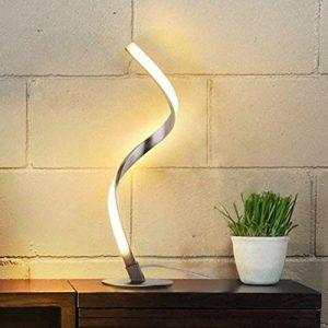 Albrillo Lampe de table en spirale, Lampe de bureau LED incurée, 6W Lumière Blanc Chaud avec Câble de 1.5m de la marque Albrillo image 0 produit