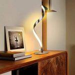 Albrillo Lampe de table en spirale, Lampe de bureau LED incurée, 6W Lumière Blanc Chaud avec Câble de 1.5m de la marque Albrillo image 3 produit