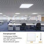 Albrillo Panneau Lumineux LED Suspension 36W, 6000K, Plafonnier blanc froid, Dalle Lumineuse 60x60cm de la marque Albrillo image 3 produit