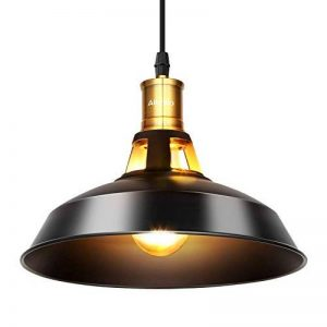 Albrillo Retro Suspension Industrielle LED, Suspension Luminaire en Aluminium E27, Noir et Idéal pour Salle à Manger, Salon, Chambre et Restaurant de la marque Albrillo image 0 produit