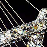 ALFRED® Cristal de luxe moderne a conduit pendentif avec deux anneau uniques, plafond moderne Luminaire,chambre, Salon de la marque Alfred image 1 produit