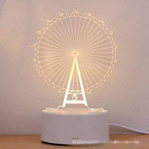 Alokie 3D Illusion Nuit Lumière LED Bureau Table Lampe Maison Chambre Bureau Décor pour Enfants d'anniversaire De Noël Cadeau de la marque Alokie image 0 produit