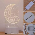 Alokie 3D Illusion Nuit Lumière LED Bureau Table Lampe Maison Chambre Bureau Décor pour Enfants d'anniversaire De Noël Cadeau de la marque Alokie image 1 produit