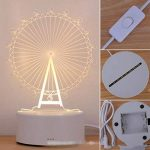 Alokie 3D Illusion Nuit Lumière LED Bureau Table Lampe Maison Chambre Bureau Décor pour Enfants d'anniversaire De Noël Cadeau de la marque Alokie image 3 produit
