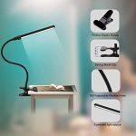 ALOTOA Lampe Clip pliable Lampe de bureau réglable de la Luminosité,Led clignotant 5W LED flexible avec port USB, 2 niveaux dimmable, puissant bouton, Eye-Care pour la lecture de nuit, de travail de la marque ALOTOA image 2 produit