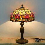 American Tiffany Style Table Lampe Rouge Tulip Hôtel Chambre Tête De Lit Salon 12 Pouces 220 V de la marque OOFAY TAPS image 2 produit
