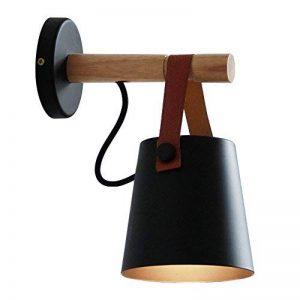 American Village Creative Ceinture En Bois Lustre Applique Nordique Simple Étude Lit Ceinture Fer Lampe Murale ( Couleur : Noir ) de la marque CHUANGCHUANG image 0 produit