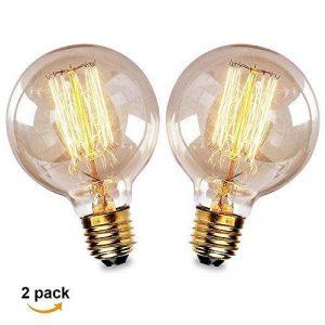 Ampoule E27 Vintage,Fil Lampe Rétro Antique 220-240V Grosse Ampoule 40W Edison Globe G80 Ampoule Filament Blanc Chaud 2 Pack de la marque Aurora France image 0 produit
