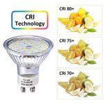 Ampoule LED GU10, 5W Équivalent Halogene 35W, 50W, Blanc Chaud 2800K, Spot Lampe Douille GU10, 480LM AC 230V, 100° Grand Angle NON-Dimmable Pack de 10 de la marque Eco.Luma image 3 produit