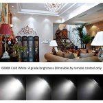 Ampoule LED GU10 Blanc Froid 3W Dimmable Couleur Changement RVB LED Spot Bulb, 12 Couleurs avec Télécommande, AC 85V - 265V, pour Applique, Rail Track, Plafonnier Encastré (paquet de 4) de la marque HYDONG image 3 produit