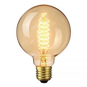 Ampoule Vintage, Elfeland E27 40W Ampoules Incandescence Antique Filament en Spirale 220V 2200K 180LM Dimmable Lumière Décorative pour Plafonnier Applique Suspension Modèle G95 de la marque Elfeland image 0 produit