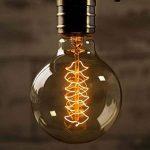 Ampoule Vintage, Elfeland E27 40W Ampoules Incandescence Antique Filament en Spirale 220V 2200K 180LM Dimmable Lumière Décorative pour Plafonnier Applique Suspension Modèle G95 de la marque Elfeland image 1 produit
