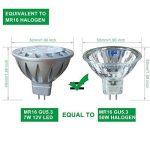 Ampoules MR16 12V LED GU5 3 4000K Blanc Naturel, AlideTech 7W 560LM Led Spot Lampe 50W Halogènes Incandescente Lumiere Équivalent, Diamètre de 50mm, Culot GU5.3, 38°, Lot de 6 de la marque AlideTech image 1 produit