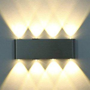 Amzdeal® 8W Mini Applique murale Lampe murale 8 LED mur intérieur en aluminium(blanc chaud) de la marque amzdeal image 0 produit