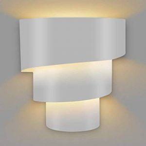 Amzdeal Applique Murale LED éclairage décoratif ( ampoule E27 non inclus ), Lampe murale LED Rotatif à trois couches en forme de l'échelle de mode créatif en fer ( Blanc ) de la marque Amzdeal image 0 produit