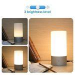 Amzdeal Lampe de Chevet LED Tactile Sensitive Lampe d'ambiance avec 3 Niveaux de Luminosité blanche chaude (6W Max) et 7 Couleurs Changeables (3W) de la marque Amzdeal image 2 produit