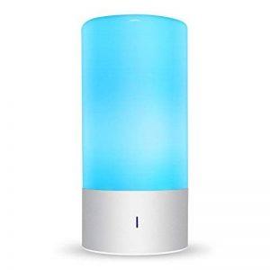 Amzdeal Lampe de Chevet LED Tactile Sensitive Lampe d'ambiance avec 3 Niveaux de Luminosité blanche chaude (6W Max) et 7 Couleurs Changeables (3W) de la marque Amzdeal image 0 produit