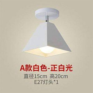 ANGEELEE Lampes en fer moderne et minimaliste en collant les plafonnier vestiaire toilettes salle de montage lampes du couloir de transport en commun d'un balcon de la marque ANGEELEE image 0 produit