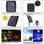Ankway Projecteurs LED Solaires imperméables 3 GRB Lampes 18 LED, Eéglable IP68 Étanche Lampe Solaire Lumières Solaires Extérieur Jardin Piscine Étang Cour Mur Route-Auto on/Off (Rouge Vert Bleu) de la marque Ankway image 2 produit
