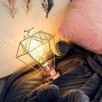 AntEuro Iron Bulb Night Light , EONANT Lampe de Chevet Nordique de Lampe de Nuit de Lampe de Chevet de Fer avec L'éclairage Décoratif à Piles pour la Chambre, Le Salon, Le Bar, L'hôtel (Rose Gold) de la marque AntEuro image 1 produit