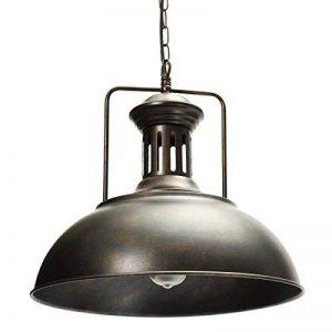 AOGUERBE Suspension Vintage,Métal Retro Plafonnier Luminaire Industrielle Lustres Lampe Pendante Interface E27 Support de Lampe Déco Atmosphère Eclairage pour Bar Café Cuisine Grenier Club [Rouille] de la marque AOGUERBE image 0 produit
