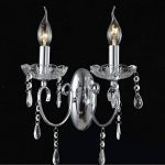 Applique 2 bras cristal baroque pampilles argent - Pavia KOSILUM - IP20 - Classe énergétique : Compatible avec A, B, C, D, E - 220/230V 50/60Hz - 2 x max 40W - de la marque Kosilum image 3 produit