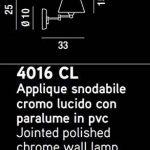 Applique avec Bras Articulé en Métal Chrome Poli Taille Longueur Totale 25 Cm Hauteur 33 Cm 1 Ampoule Xe14 Max.40W Applique Murale 4016Cl Perenz de la marque Perenz image 1 produit