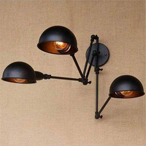 Applique à Bras Articulé Appliques Murales RéTro à Trois TêTes Noires RéGlables,HMM de la marque XF Lighting image 0 produit